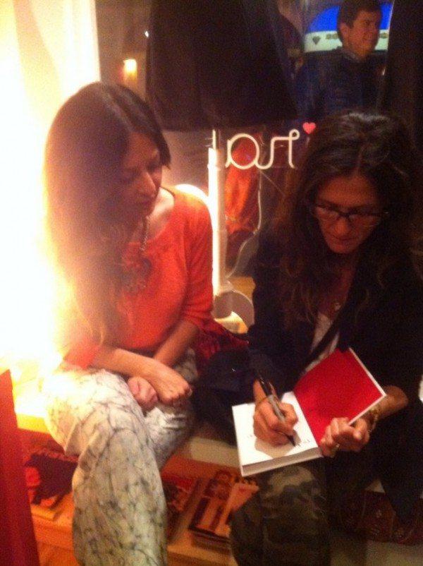 Andrea Linett et moi