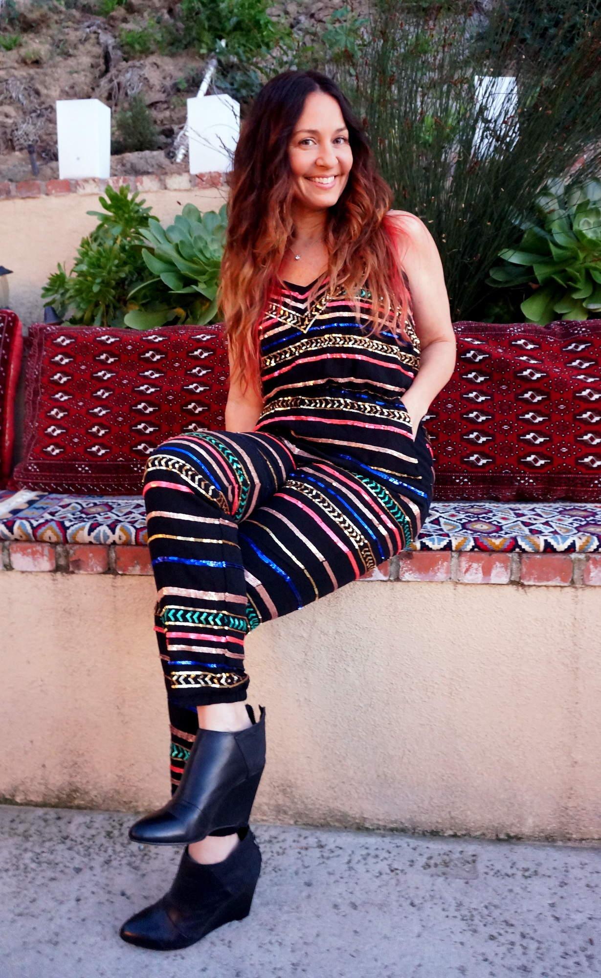 Mara Hoffman sequin jumpsuit